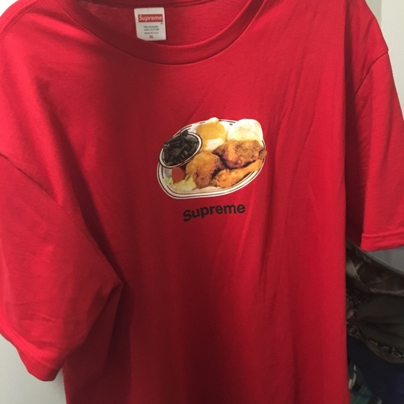 5cac8d87aef0 Supreme chicken dinner t shirt. NWT. Supreme. M_5ad8aa1e3316270cfbc8a329.  M_5ad8aa209d20f0f220e4de2e. M_5ad8aa212ae12f68037555bf